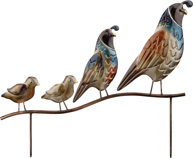 Regal Art Gift Quail Family Outdoo Popularity Southwestern Birds Now on sale Metallic