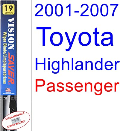 2001-2007 Toyota Highlander Wiper Blade (Passenger) (Saver Automotive Products-Vision