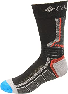Columbia Omni Heat Space Dye Hiking Crew Socks 1 Pair, Black, Medium