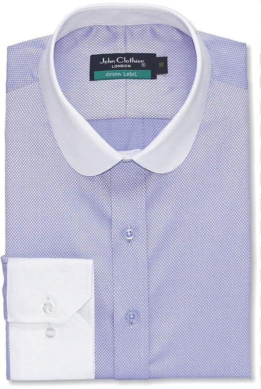 WhitePilotShirts Camisa para Hombre con Cuello de penique ...
