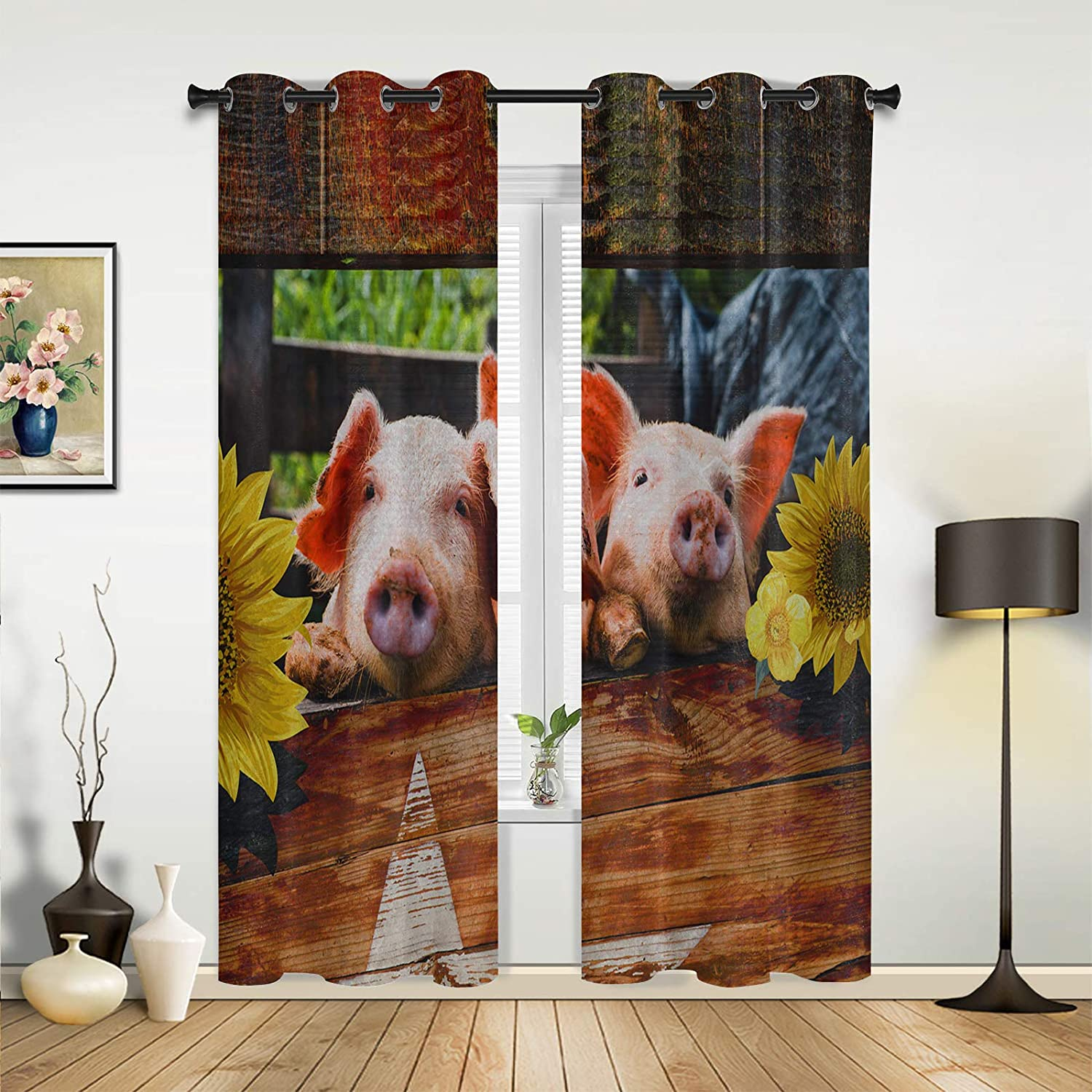 Window Sheer Curtains for Bedroom Now on sale Living Sunflower Room Farm 2021 spring and summer new Cut