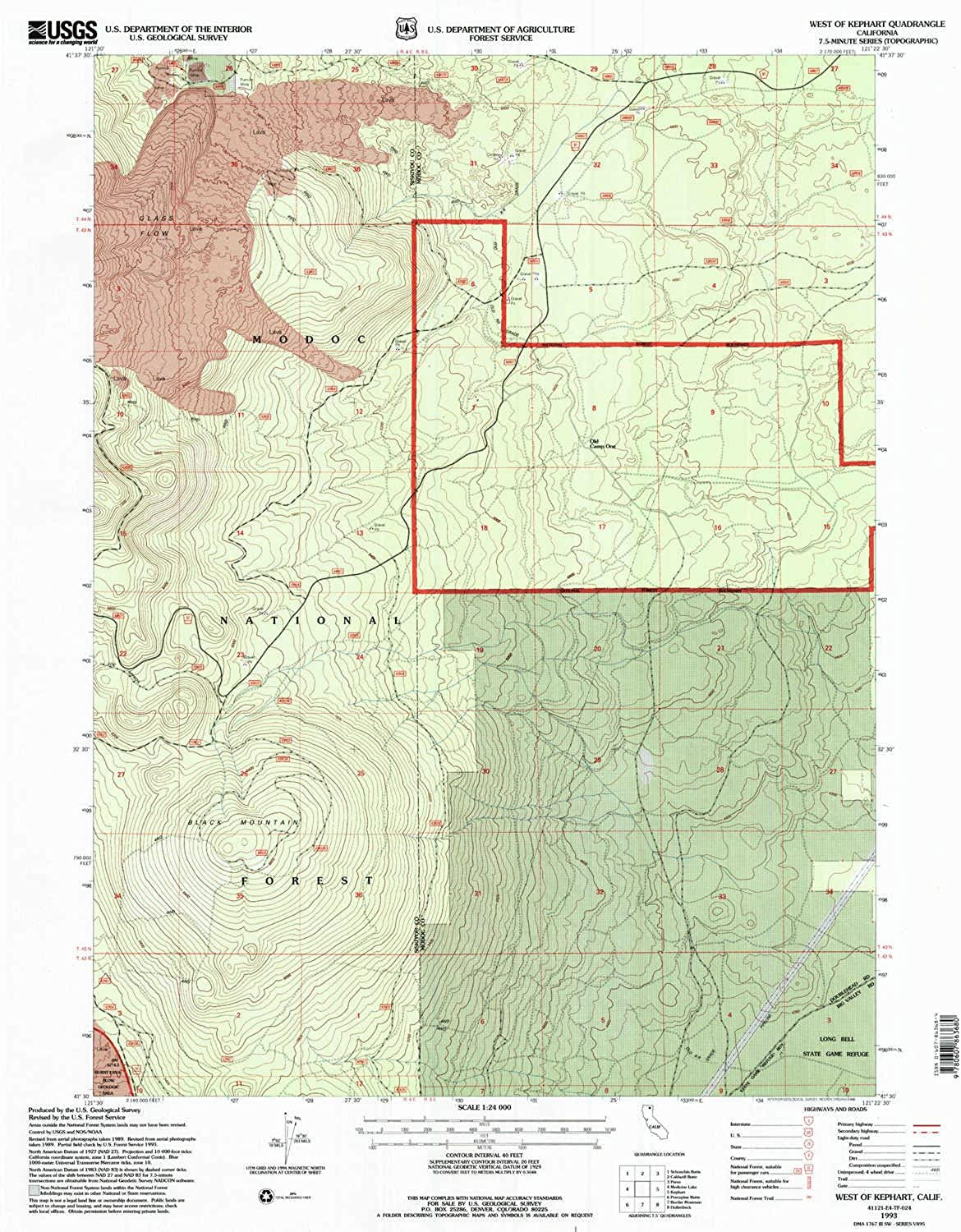 West of Kephart CA topo map, 1 24000 Scale, 7.5 X 7.5 Minute, Historical, 1993, Updated 1996, 26.8 x 21.4 in