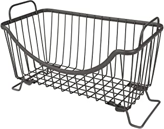 Spectrum Diversified Ashley Stackable Wire Basket With Raised Feet and Looped Handles Modular Stacking Bin System for Kitc...