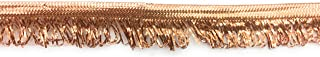 Copper Cord-Edge Fringe Piping Trim -Llip Cord for Clothing Pillows, Lamps, Draperies 5 Yards Pi-129/108