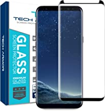 Tech Armor 3D Curved Ballistic Glass Screen Protector for Samsung Galaxy S8 Plus, CASE-Friendly, (Black) [1-Pack]