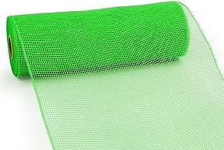10 Inch x 30 Feet Deco Poly Mesh Ribbon - Lime Green Non Metallic : RE130268