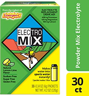 ElectroMix Electrolyte Replacement (Natural Lemon-Lime Flavor, 30-Count 0.14 oz. Packets)