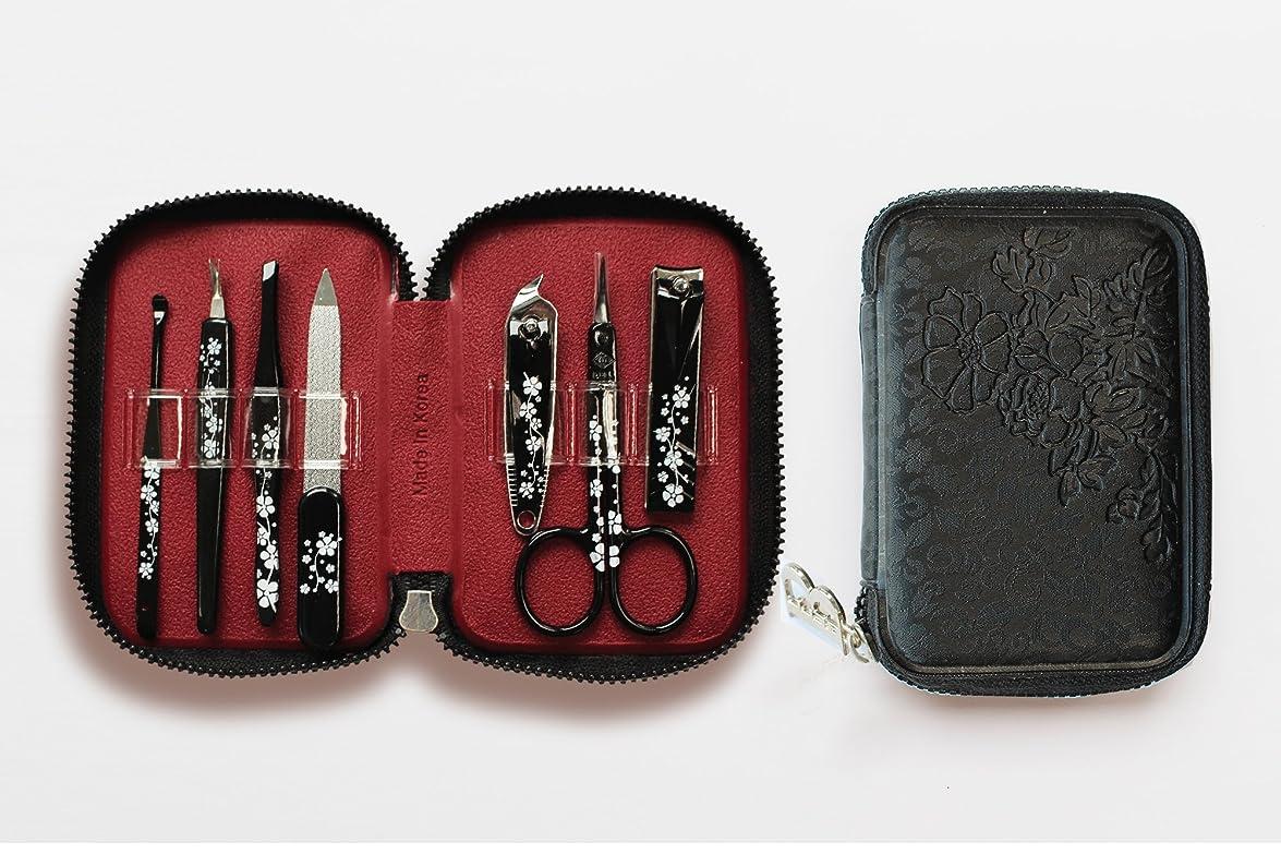 モーター元の化学者BELL Manicure Sets BM-990A ポータブル爪の管理セット 爪切りセット 高品質のネイルケアセット花モチーフのイラストデザイン Portable Nail Clippers Nail Care Set