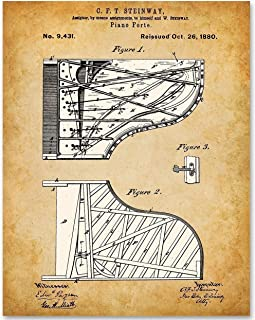 Steinway Piano - 11x14 Unframed Patent Print - Makes a Great Gift Under $15 for Piano Players