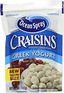 Ocean Spray Craisins Dried Cranberries, Greek Yogurt Covered, 5 Ounce (Pack of 12)