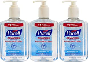 Purell Advanced Hand Sanitizer 8 oz Pump Bottle - Pack of 3