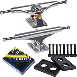 Independent Cal 7 Skateboard Combo, Trucks with 8MM Riser Pads and Black 1.25 Inch Hardware