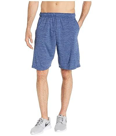 Nike Dri-FIT Heathered 9 Training Short (Blue Void/Ocean Fog/Black) Men