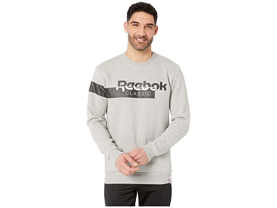 Reebok Activchill Fleece Crew (Medium Grey Heather) Men