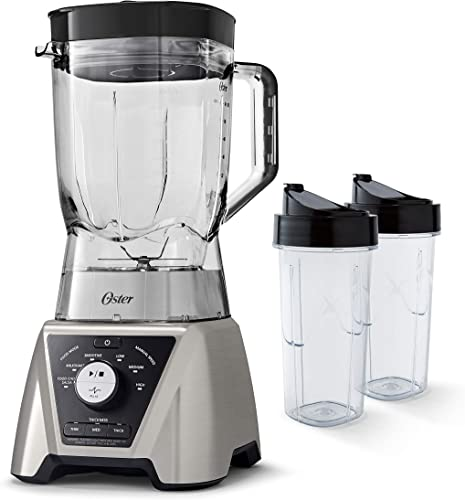 lowest Oster BLSTTSCB2000 Texture Select Settings Pro Blender with 2 outlet online sale Blend-N-Go Cups and Tritan Jar, 64 Ounces, Brushed outlet sale Nickel online