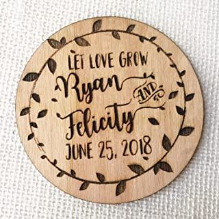 Waaa Wood Wedding Favor Magnet Rustic Wedding Favor Wooden Magnet Wood Save The Date Heart Shaped Magnet Laser Cut