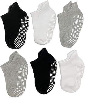 Baby non slip grip ankle socks for infants toddlers kids boys girls
