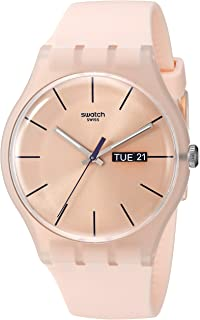 New Gent Coloured Quartz Silicone Strap, Pink, 20 Casual Watch (Model: SUOT700)