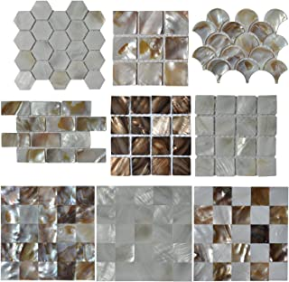 Art3d Mother of Pearl (MOP Shell) Mosaic Tiles, 9 Samples