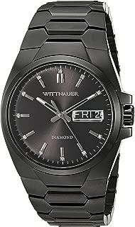 Wittnauer Mens WN3046 30mm Stainless Steel Black Watch Bracelet