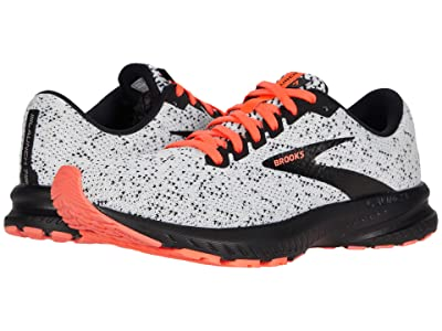 Brooks Launch 7 (White/Black/Fiery Coral) Women
