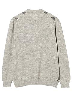 Argyle Cotton V-neck Cardigan 11-15-1349-156: Light Grey