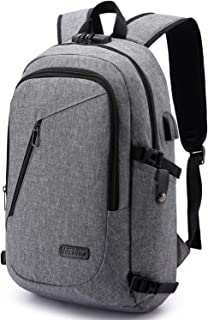 Anti-Theft Backpack,Business Laptop Backpack with USB Charging Port and Earphone Port with Lock Slim Water Resistant Bag Daypack Fits 15.6 Inch Computer Notebook Rucksack for Work, College