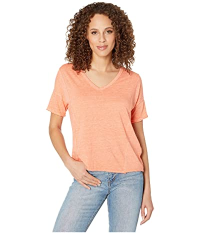 Lucky Brand Seamed Burnout Tee (Persimmon) Women