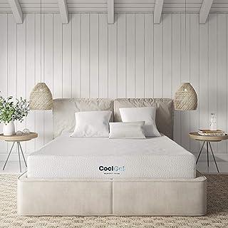 Classic Brands Cool Ventilated Gel Memory Foam 8-Inch Mattress, Short Queen, White