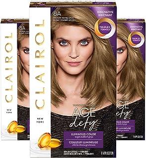 Clairol Age Defy Permanent Hair Color, 8A Medium Ash Blonde, 3 Count