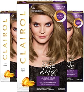 Clairol Age Defy Expert Collection, 8a Medium Ash Blonde Permanent Hair Color (3 Applications) (Packaging May Vary)