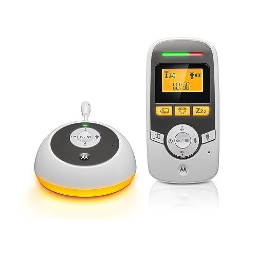 """Motorola Babyphone Audio avec écran 1.5"""" et minuterie de soins bébé - MBP161 - Blanc"""