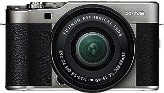 Fujifilm X-A5 systemkamera (24,2 megapixlar) inkl. XC15-45 mmF3.5-5.6 OIS PZ objektiv, mörkt silver