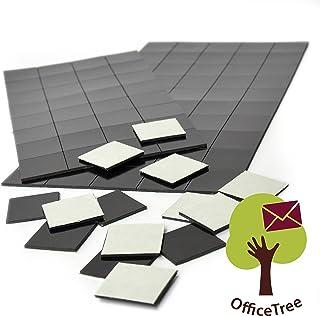 Office Tree 2x 50magnético Láminas de papel autoadhesivo para magnetización seguro de señalizaciones fotos, 20x 20mm, Negro