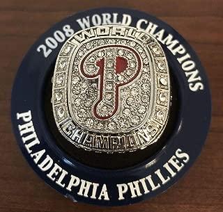 BRAND NEW!! Philadelphia Phillies JIMMY ROLLINS Retirement Night 2008 World Series Replica Ring 5/4/19 SGA Citizens Bank Park Exclusive