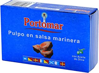Pulpo en salsa marinera-con aceite de oliva-Portomar-Pack 4 x 110gr-total=440gr.: Amazon.es: Alimentación y bebidas