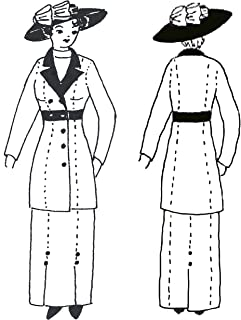 1910-1915 Double Breasted Jacket Pattern