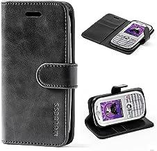 Mulbess Funda Motorola Moto E 2nd [Libro Caso Cubierta] [Vintage de Billetera Cuero de la PU] con Tapa Magnética Carcasa para Motorola Moto E 2 Gen Case, Negro