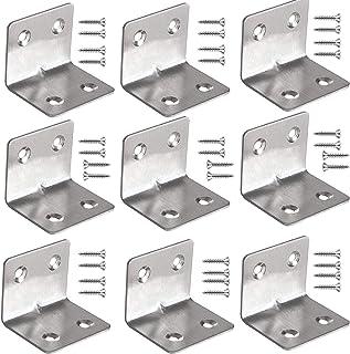 mohito 20 stuks hoekverbinders, roestvrij staal, hoekklemmen, 38 x 38 mm, hoekverbinder, hoekhoekverbinding, metalen gatho...