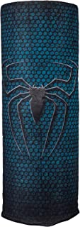 Autofy Unisex Spider Print Lycra Headwrap for Bikes (Black and Green, Free Size)