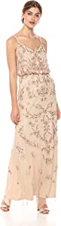 Adrianna Papell Women's Multi Colored Floral Beaded Blouson Gown
