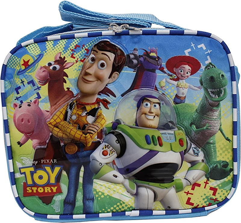 Disney Toy Story New Light Blue Insulated Lunch Box Bag Buzz Lightyear Woody