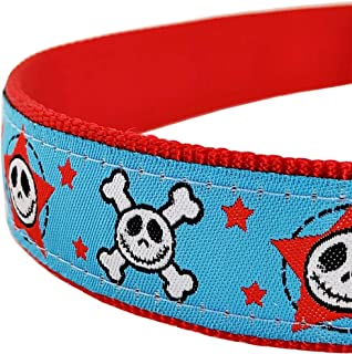 Bestbuddy Pet Cool boy Skull Nylon Ribbon Dog Collar Pet Collar Trendy Comfortable Adjustable Dog Collar with Buckle BBP046