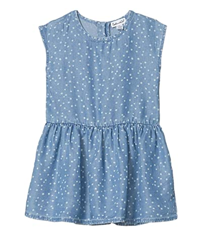 Splendid Littles Chambray Dot Dress (Big Kids) (Chambray) Girl