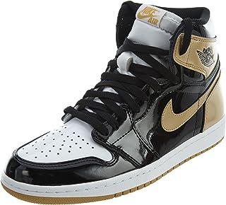 51b6d261a2684 Amazon.com: Air Jordan 1 Retro Shoe - Air Jordan (Black/gold) - 4 ...