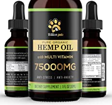 Billion Pets – Hemp Oil for Dogs Cats – Separation Anxiety, Joint Pain,..