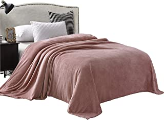 Exclusivo Mezcla Luxury King Size Flannel Velvet Plush Solid Bed Blanket as Bedspread/Coverlet/Bed Cover (90