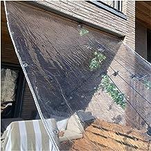 LIANGJUN transparant dekzeil, PVC weerbestendig bescherming startzijde, met tuit voor balkon luifel warmte-isolatie, 550 ...