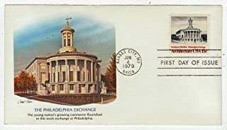 United States American Architecture - Philadelphia Exchange Postage Stamp Original First Day Cover # 1782 w/Cachet Fleetwood
