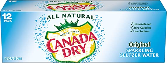 Canada Dry Original Sparkling Seltzer Water, 12 fl oz cans, 12 count